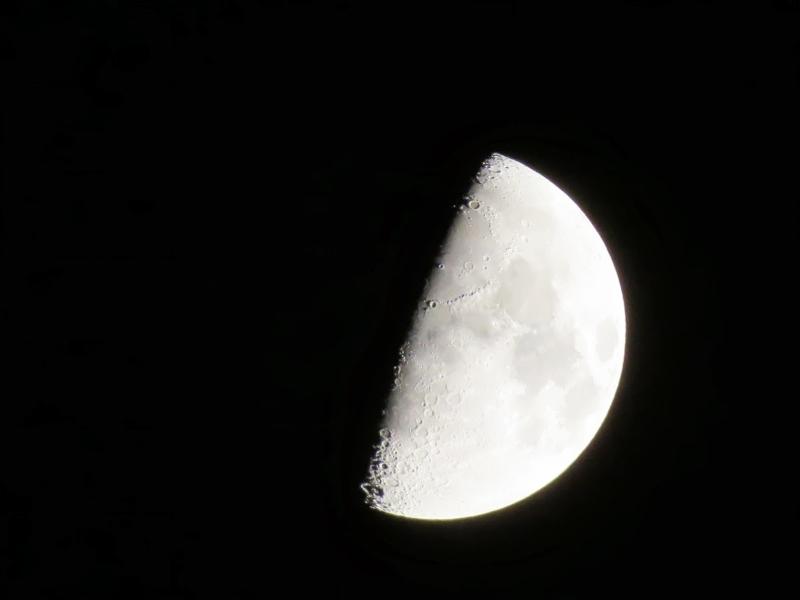 Fotos de la Luna en cuarto creciente desde la Glorieta de La Guardia ...